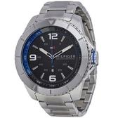 Tommy Hilfiger 1791002 鋼帶石英手錶  (男士手錶/ 黑色錶盤)--父親節專屬商品