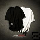 拉鏈短袖T恤男加肥加大碼寬鬆半袖體恤青少...