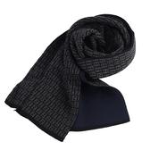 FENDI 滿版LOGO羊毛圍巾(黑色)