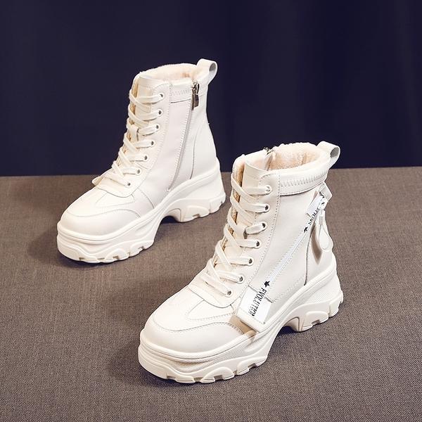 雪地靴女2019新品秋冬季百搭加絨瘦瘦短靴棉鞋韓版網紅厚底馬丁靴