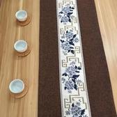 中式禪意餐桌現代簡約復古棉麻布藝茶桌茶席電視櫃茶幾桌布  沸點奇跡