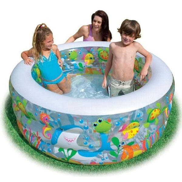 *粉粉寶貝玩具*INTEX 58480圓形金魚泳池/戲水池~游泳池/球池~152*56公分