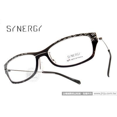 SYNERGY 光學眼鏡 SY3003 013C (黑) NXT 防彈材質 極簡結構 平光鏡框 # 金橘眼鏡