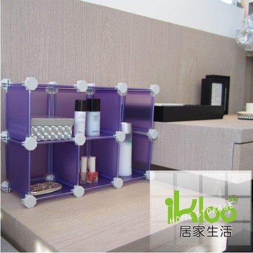 [ 家事達 ]HD-HP60-P- 迷你桌上型組合櫃六格-紫  特價