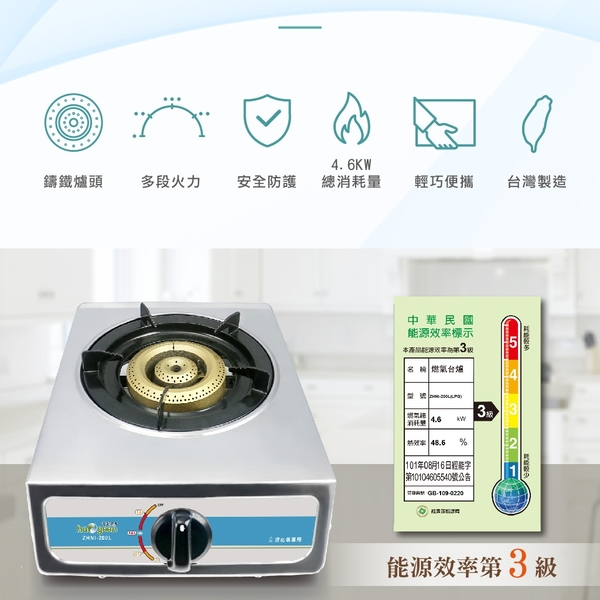 【中華豪井】雙環大單爐ZHNI-200L