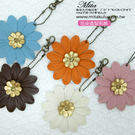 花朵造型 包包吊飾 鑰匙掛飾共五色  *...