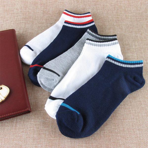 襪子-秋冬襪子男潮男個性襪子短襪短筒船襪低筒矮腰四季款5雙禮盒裝-免運好康八八折下殺