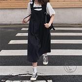 可愛娃娃裙襯衫日系背帶裙連身裙兩件套女【小酒窩服飾】