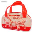 【震撼精品百貨】Hello Kitty 凱蒂貓~HELLO KITTY防水小提袋-積木圖案-白色