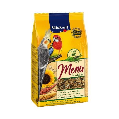 *KING WANG*德國Vitakraft Vita-中型長尾鸚鵡主食(蜂蜜+維他命) 1kg (21003)