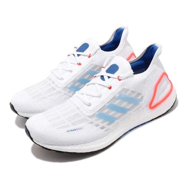 adidas 慢跑鞋 UltraBOOST Summer.RDY 白 藍 男鞋 涼感 透氣 運動鞋【ACS】 EG0751