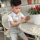 西裝 花童禮服男兒童小西裝套裝夏季韓版婚禮主持西服寶寶鋼琴表演出服 鹿角巷
