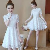 蕾絲連身裙改良旗袍裙