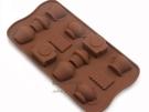 12格餅乾巧克力蛋糕矽膠模具 鬧鐘茶壺 烘培模具 製冰盒 皂模 果凍模【AF120】《約翰家庭百貨
