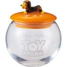 SUNART 透明玻璃置物罐 迪士尼 慵懶彈簧狗_NR25132