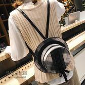 個性帽子撞色毛呢小包包女潮韓版百搭斜挎包單肩包雙肩包「尚美潮流閣」