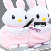 店長推薦 米米個性可愛創意毛絨公仔迷你小音響便攜式臺式電腦筆記本音箱