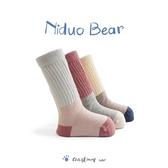 尼多熊寶寶襪嬰兒襪子春秋純棉男女童半筒新生兒中筒襪韓國堆堆襪