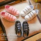 男童鞋 女童鞋 韓版漆面亮皮休閒運動鞋 QB allshine