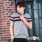【PSF101】潮流拼色線條萊卡彈力短POLO衫(共二色)● 樂活衣庫