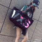 大包包新款女包韓版潮包帆布包女單肩包大容量手提購物袋單肩包  【全館免運】