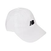 New Balance 帽子 NB Logo Baseball Cap 白 黑 男女款 老帽 棒球帽 運動休閒 【ACS】 LAH91014WT
