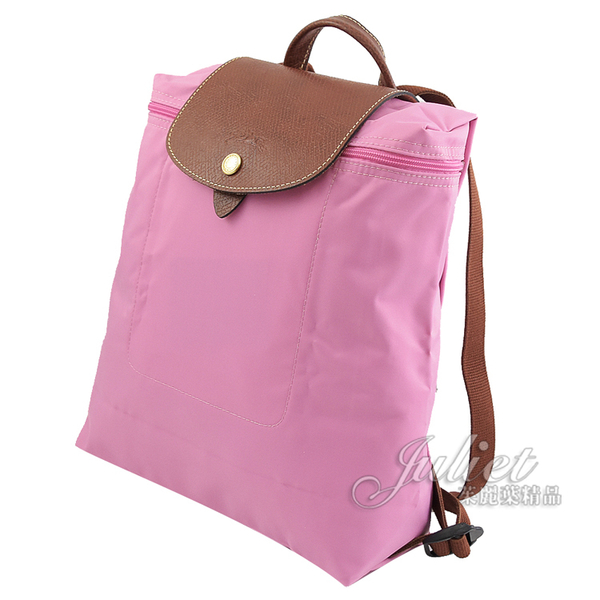 茱麗葉精品【全新現貨】Longchamp Le Pliage 折疊尼龍手提後背包.粉 #1699