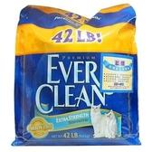 【🐱🐶培菓寵物48H出貨🐰🐹】美國EVERCLEAN 》低過敏結塊貓砂(藍標)-42lb免運送到家