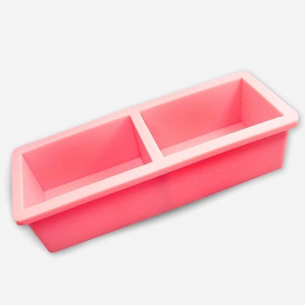 【香草工房】 500雙格粉紅矽膠土司模(不含木盒)