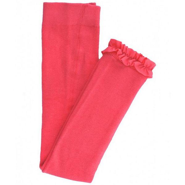 褲襪/內搭褲/寶寶襪 Rufflebutts 小女童甜美公主荷葉邊內搭褲-珊瑚紅 RLKCO-0000