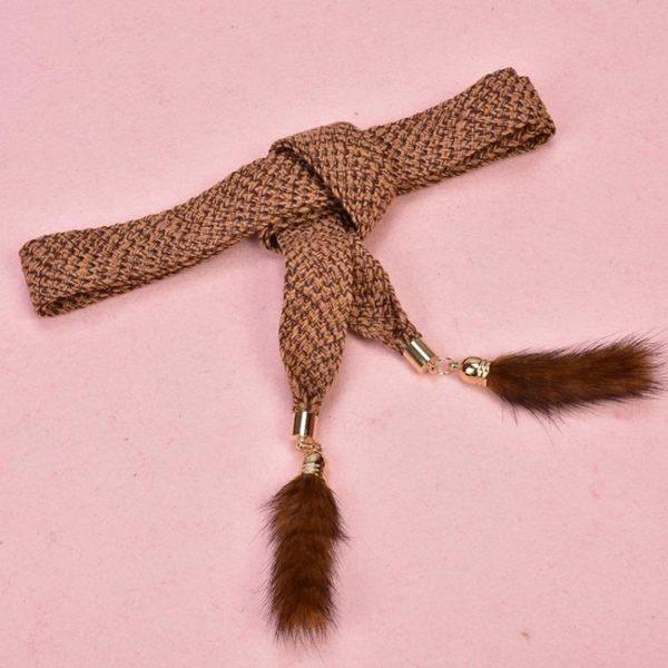 時尚針織毛衣鍊打結腰帶女腰鍊