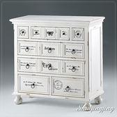 【水晶晶家具/傢俱首選】CX9473-6 奧麗塔3.2*3呎白色仿舊多斗櫃