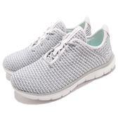 Skechers 運動鞋 Flex Appeal 2.0 Blod Move 白 灰 針織網布鞋面 女鞋 運動鞋【PUMP306】 12773WGY