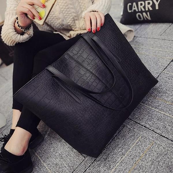 韓版手提包包包韓版潮大容量女士學生側背包手提包百搭簡約女包大包春季 果果生活館