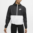 Nike Sportswear 女裝 外套 連帽 梭織 防風 訓練 休閒 運動 黑 白【運動世界】CJ7345-010