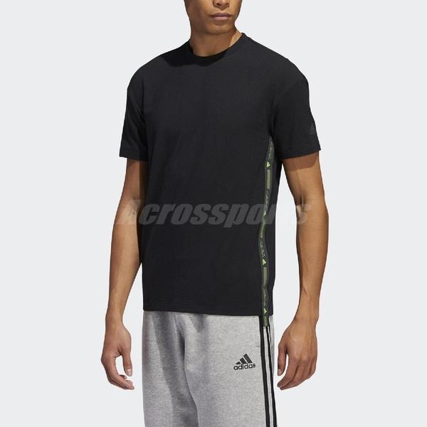 adidas 短袖T恤 GTX T Prime 黑 綠 男款 短T 運動 訓練 【ACS】 FT2791