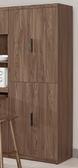 【森可家居】諾艾爾6 尺高四門收納櫃8CM906 6 白色餐櫃廚房櫃碗盤碟櫃木紋 北歐工業風