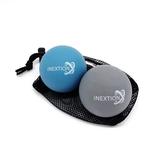 【INEXTION】Therapy Balls 筋膜按摩療癒球(2入) - 淺藍+天灰 台灣製
