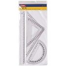 【奇奇文具】三燕COX 460 塑膠尺組/三角尺/量角器 (三角板/直尺/半圓)