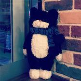 黑貓tiimo貓咪玩偶公仔可愛小貓毛絨玩具抱枕坐墊靠墊女生日禮物 米娜小鋪
