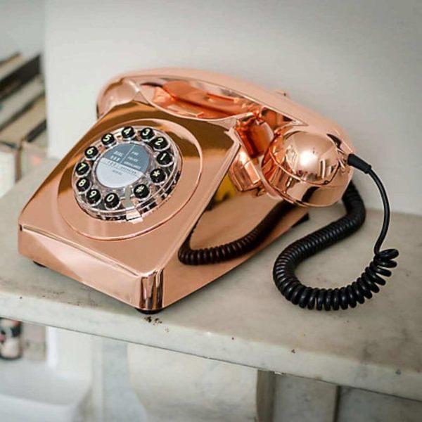 Wild&Wolf 746系列復古經典電話 (紅銅色/玫瑰金) 英國