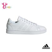 adidas 成人女款板鞋 ADVANTAGE 經典三線 休閒運動鞋 R9372#白色◆OSOME奧森鞋業