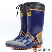 雨鞋男防水高筒橡膠雨鞋膠鞋防滑釣魚鞋長筒水鞋【淘夢屋】