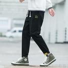 運動褲 2021年新款褲子男春夏季青年韓版潮流工裝褲男潮牌寬鬆運動休閒褲