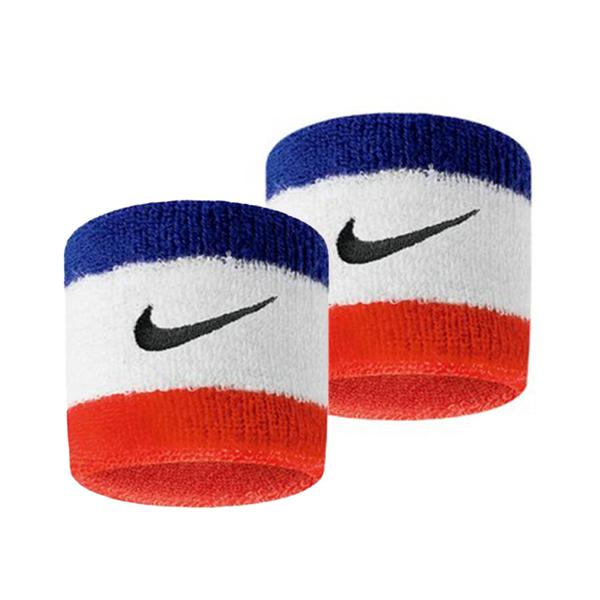 Nike Swoosh [N0001565620OS] 護腕 運動 打球 健身 單色 腕帶 吸濕 排汗 乾爽 彈性 藍紅