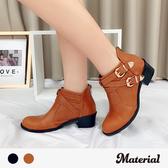 短靴 質感雙扣交叉短靴 MA女鞋 T7816