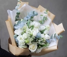 清新白色鬱金香花束--情人花束.生日花束.聖誕花束