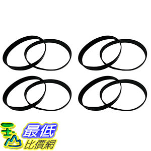 [106美國直購] Eureka Style U Belt 8-Pack Designed To Fit Eureka Uprights, Whirlwind, Victory, Bravo 61120A, 61120B