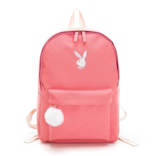 PLAYBOY- 後背包 BUNNY兔系列-粉紅色