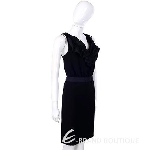 LOVE MOSCHINO 黑色抓褶 V 領設計 無袖洋裝 1310645-01